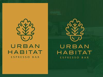 Urban Habitat marketing logodesign mark typography identity vector minimal branding illustration colors logo modern design