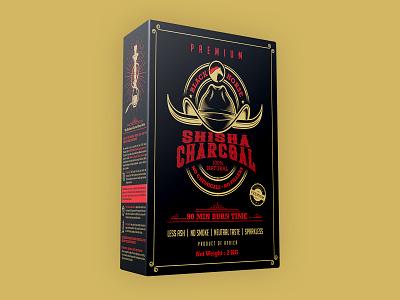 Shisha Charcoal Packaging Design illustration logo branding modern design