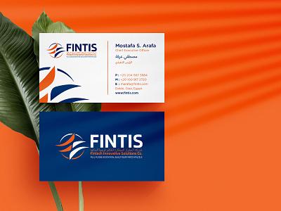 Fintis Business Card Design business cards business card design business card businesscard business logo illustration vector minimal colors modern branding design