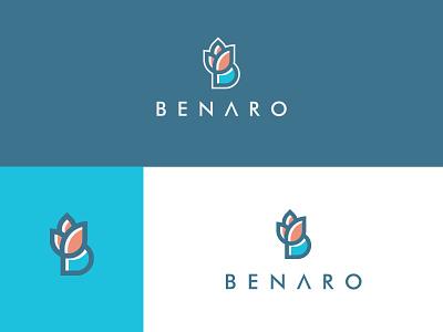 Benaro icon logodesign mark illustration identity minimal logo typography vector colors modern branding design