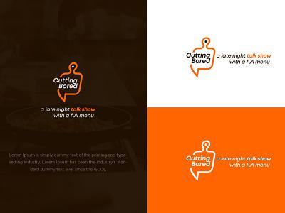 Cutting Bored app icon logodesign mark identity minimal branding illustration typography vector logo colors modern design