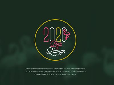 2020 Bar And Lounge marketing logodesign mark illustration typography identity minimal vector colors logo modern design branding