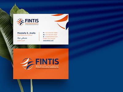 Fintis Business Card Design illustration typography vector branding colors modern design