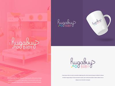 Hiugabuy Baby illustration typography logo colors modern design