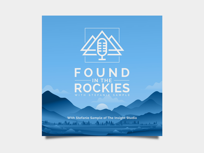 Found In The Rockies Podcast design logos logo design marketing illustrator logotype identity minimal illustration typography logo colors modern branding design