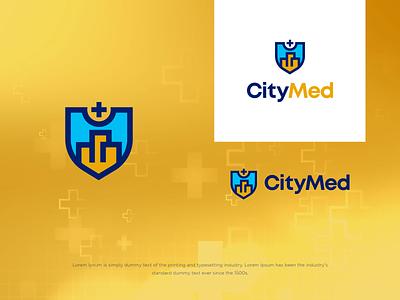 Citymed illustration typography vector logo modern design
