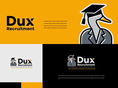 Dux Recruitment typogaphy illustrator logos logo design logotype minimal branding logodesign logo colors illustration typography modern design
