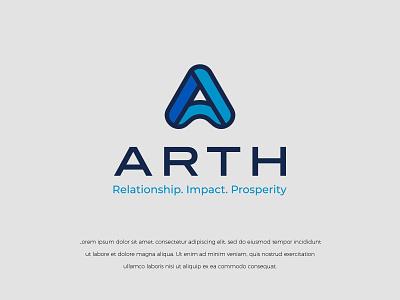 ARTH logodesign illustration colors modern branding design