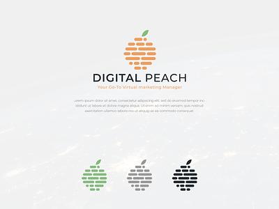 Digital Peach logos illustrator logotype logo design logodesign icon branding illustration typography colors logo modern design