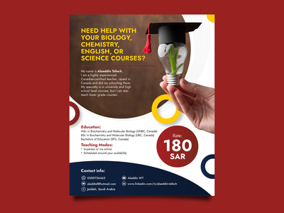 Tuition Flyer Design minimal illustration typography vector branding modern design