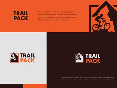 Trail Pack logodesign illustration typography minimal logo colors modern branding design