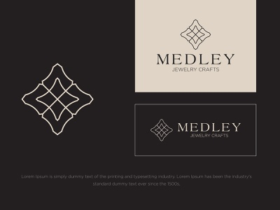 Medley Jewelry Crafts logodesign typography vector logo colors modern branding design