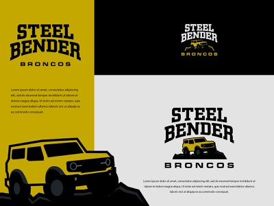 Steel Bender Broncos web app icon identity minimal logo design logodesign illustration typography vector logo colors modern branding design
