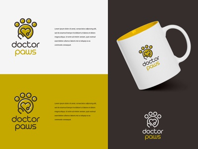 Doctor Paws logotype marketing illustration logodesign typography vector logo colors modern design