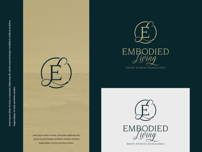 Embodied Living logodesign vector colors illustration typography logo modern design
