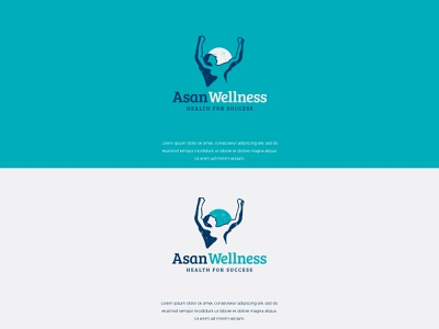 AsanWellness vector identity logodesign illustration typography minimal colors branding modern design