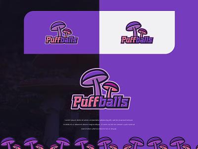 Puffballs logodesign illustration typography identity logo colors branding modern design