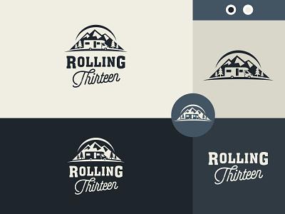 Rolling Thirteen illustration vector logo colors modern design