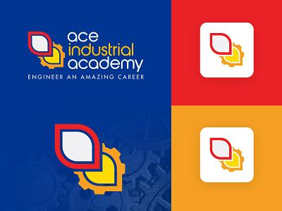 Ace Industrial Academy illustration vector logo colors modern design