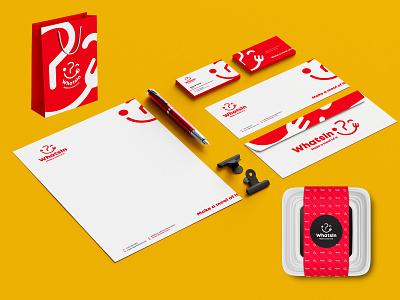 Whatsin Stationery Design illustration branding colors modern design
