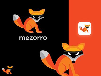 Mezorro illustration vector logo colors modern design