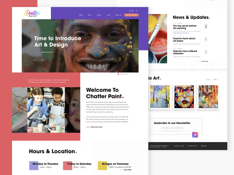 Chatter Paint - Website Home page Design