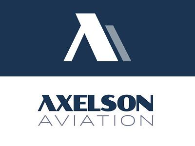 Axelson Aviation minimal modern mark aviation a letter monogram branding logo