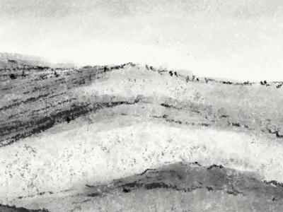 The Ridge mountain ridge drawing painting photoshop digital charcoal wet charcoal watercolor sketch