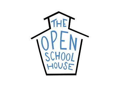 Branding — The Open Schoolhouse open schoolhouse school hand lettering hand drawn logo open source