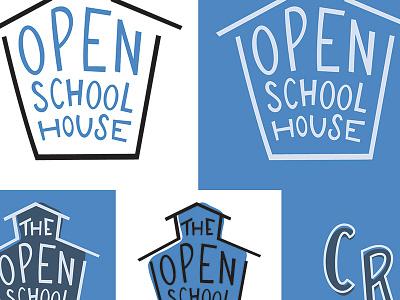 Brand Board —The Open Schoolhouse open hand lettering hand drawn school house school open source brand board branding