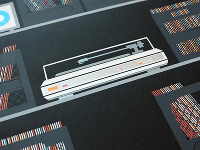 Chill: Afterhours Poster Detail line screen print vector screenprinting place silkscreen design illustration poster