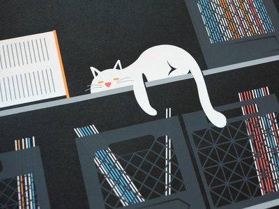 Chill: Afterhours poster detail place vector line screenprint screenprinting screen print silkscreen design illustration poster