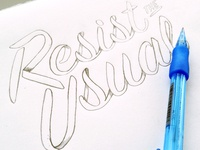 Resist the Usual Sketch