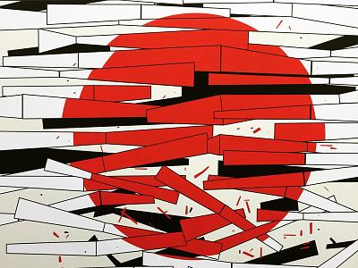 Death of Kagutsuchi screen print silkscreen poster japan