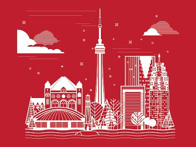 Toronto Designweek winter toronto canada design workshop place icon ibm silkscreen line illustration poster