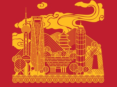 China Designweek china shanghai beijing screenprinting design thinking workshop screen print place ibm icon illustration poster