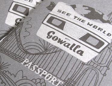 Gowalla Passport illustration print stickers