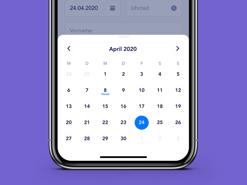 Consultation appointment exploration datepicker time picker appointment calendar