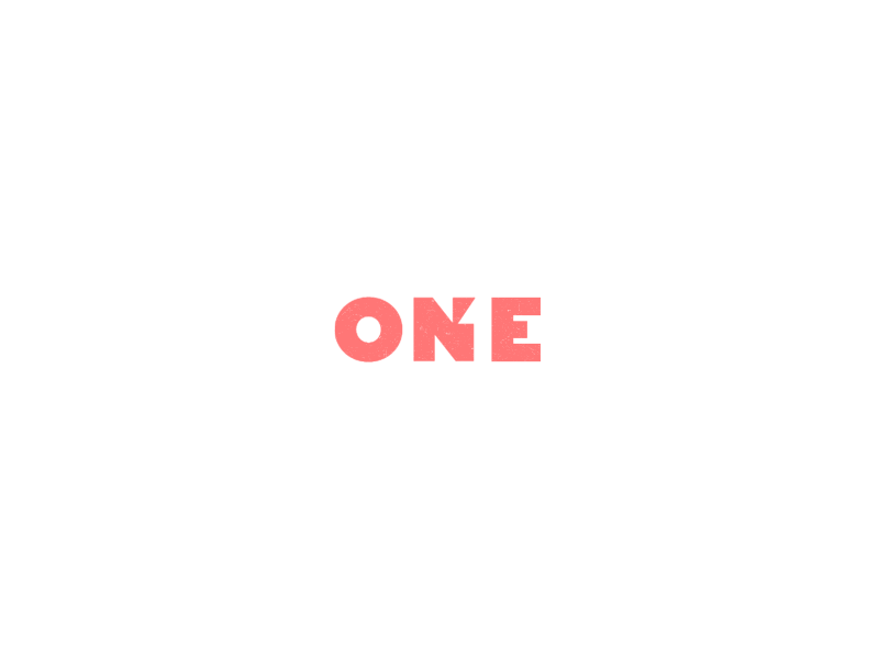 One negative space one number rebound logo eins negativespace