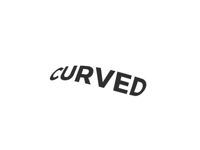 curved minimal brand logo curved