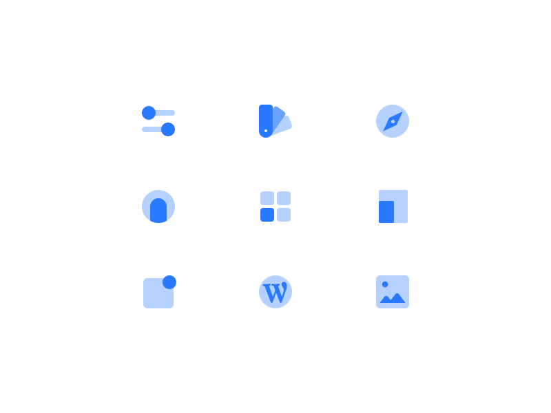 Particle Icons flat icons iconset icon