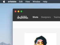 Dribbble Mac App