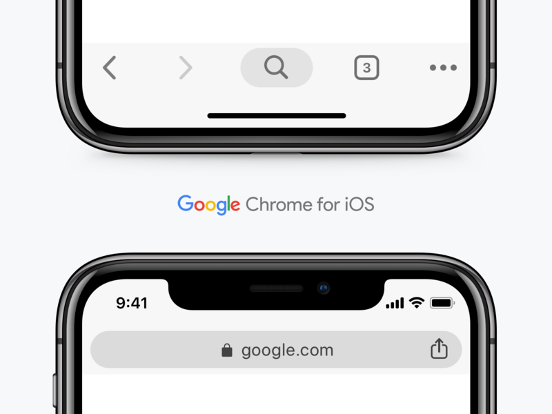 Download Google Chrome UI for iOS