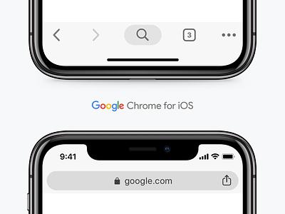 Google Chrome UI for iOS search tabbar ios freebie browser google chrome