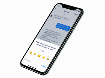 Rating concierge chat rating