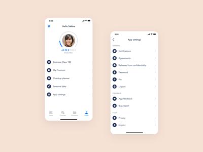 Profile settings exploration