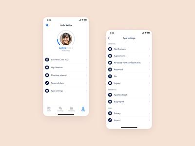 Profile settings exploration icons exploration settings profile