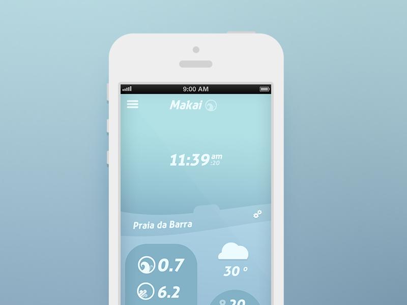 Makai - iOS app ios surf makai app mobile alarm clock surfer beach wind water wave morning hour minute gps sports radio