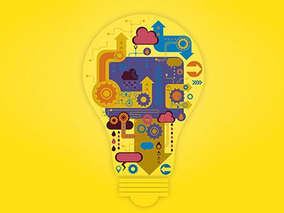 Innovaiton thought-process innovation bulb vector illustrations