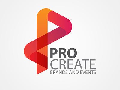 Pro Create Logo drapes branding logo illustrator brands event management